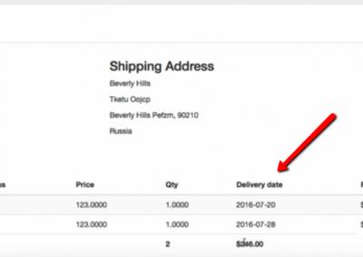 Delivery Date in Order Details (Vendor Panel)